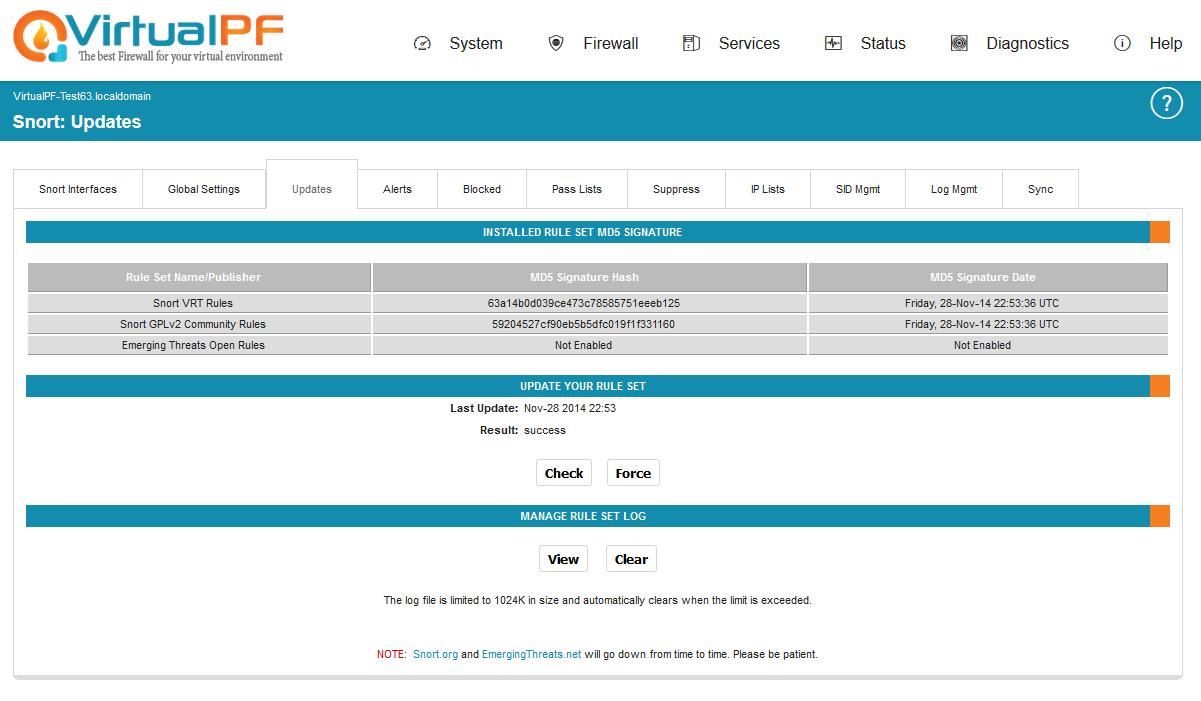 Updates - VirtualPF