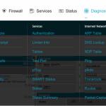 Diagnostics menu